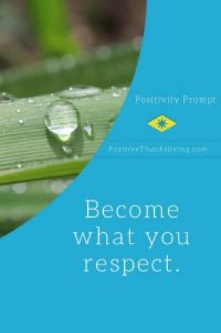 become what you respect - think character qualities