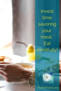 Health - perhaps it begins with savor your meal