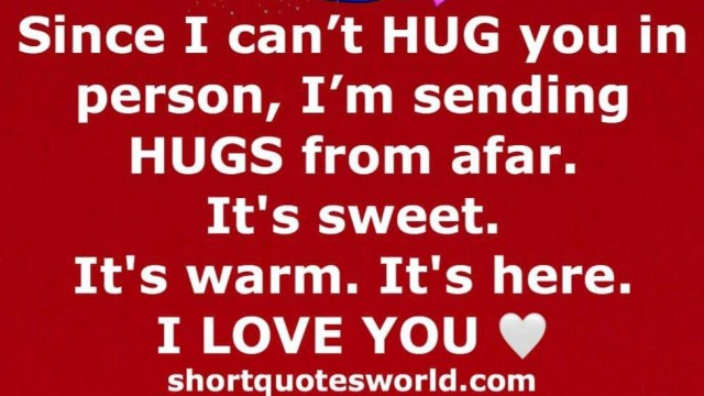 Sending HUG from a far