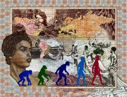 1856 Leading races of man (2015) Copyright malala andrialavidrazana Courtesy AFRONOVA GALLERY