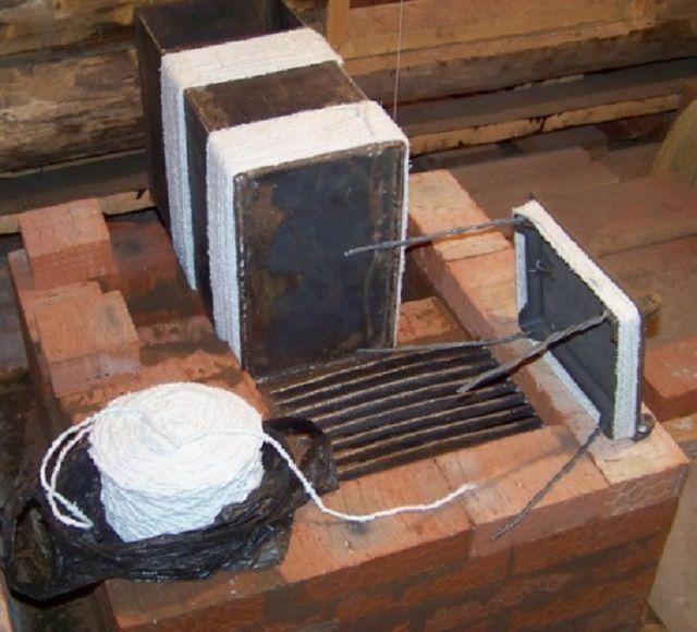 Asbestspackningar på metallelement