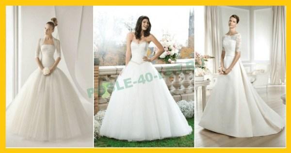 Свадебные платья для женщин (невесты) после 40 лет - фото