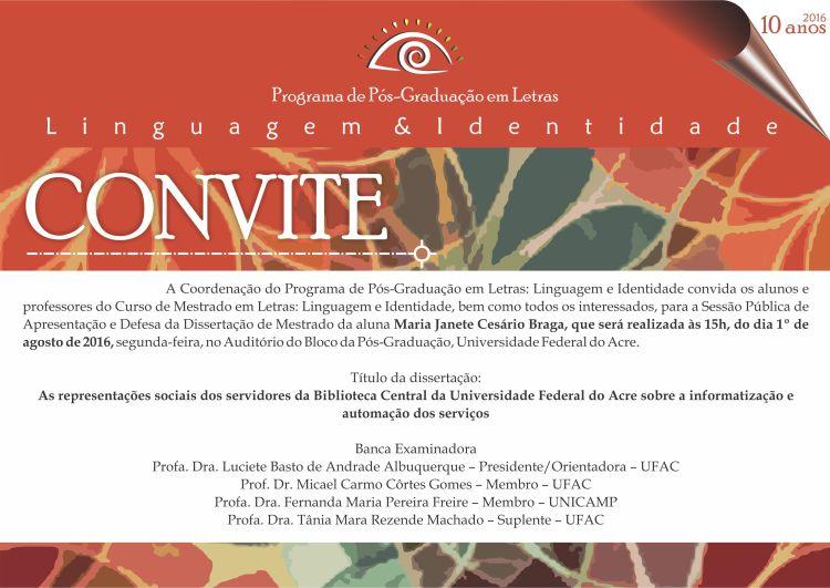 Convite Janete