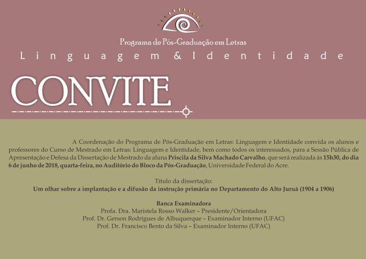 Convite Defesa Priscila