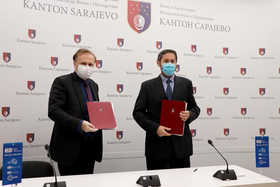BBI banka i Vlada Kantona Sarajevo/ 42,5 miliona KM za privrednike u Kantonu Sarajevo