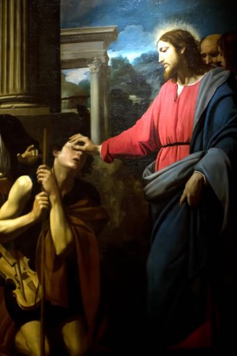 "Jesus ""The light of the World,"" Heals a Blind Man"