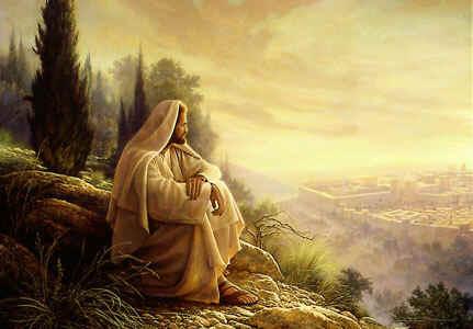 Jesus went to the Mountain to Pray