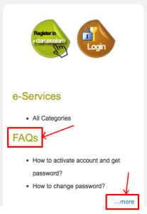 e-darussalam - FAQs - Link on sidebar