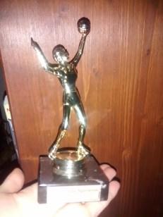 Gestriger Pokal von Kind Nummer Eins - stolz
