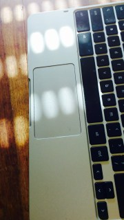 Das Chromebook sonnt sich.
