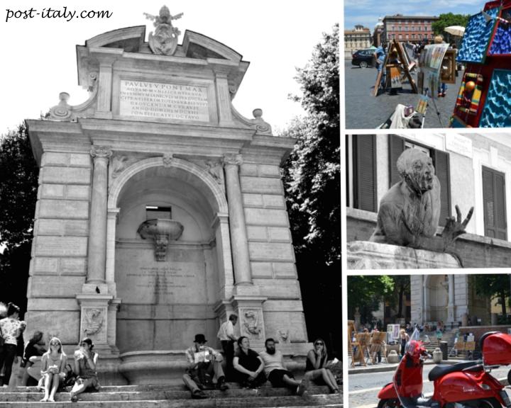 piazza trilussa em roma