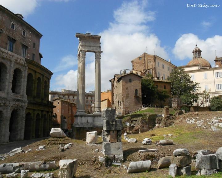 ruínas em Roma