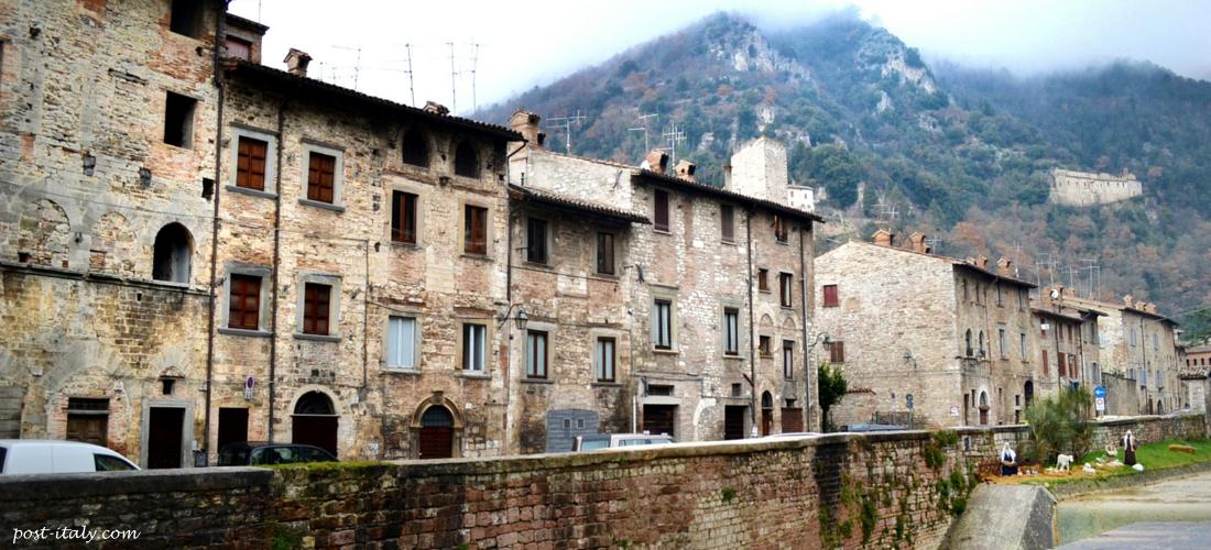 casas da cidade de Gubbio
