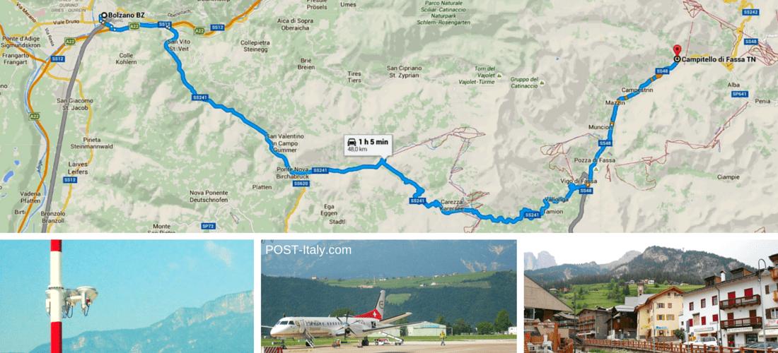 mapa das Dolomitas