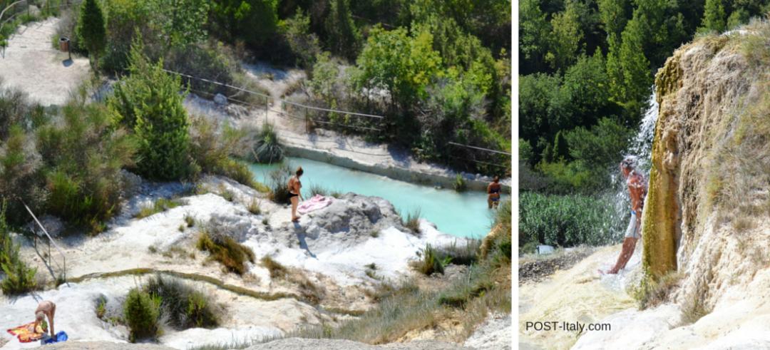 Cascatas de água termal, Toscana