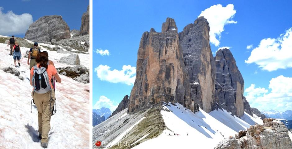 três cumes de Lavaredo nas Dolomitas