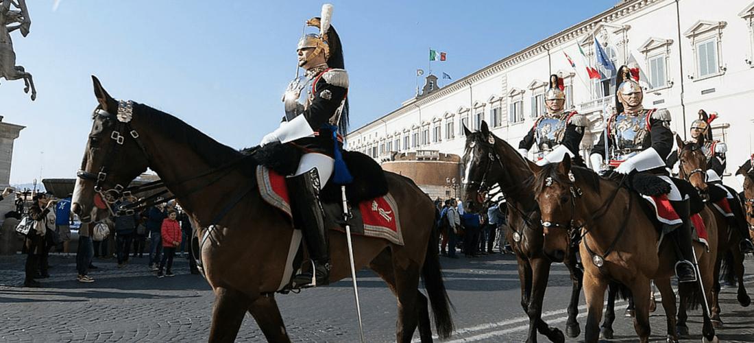 Corazzieri, guarda de honra do Quirinale em Roma