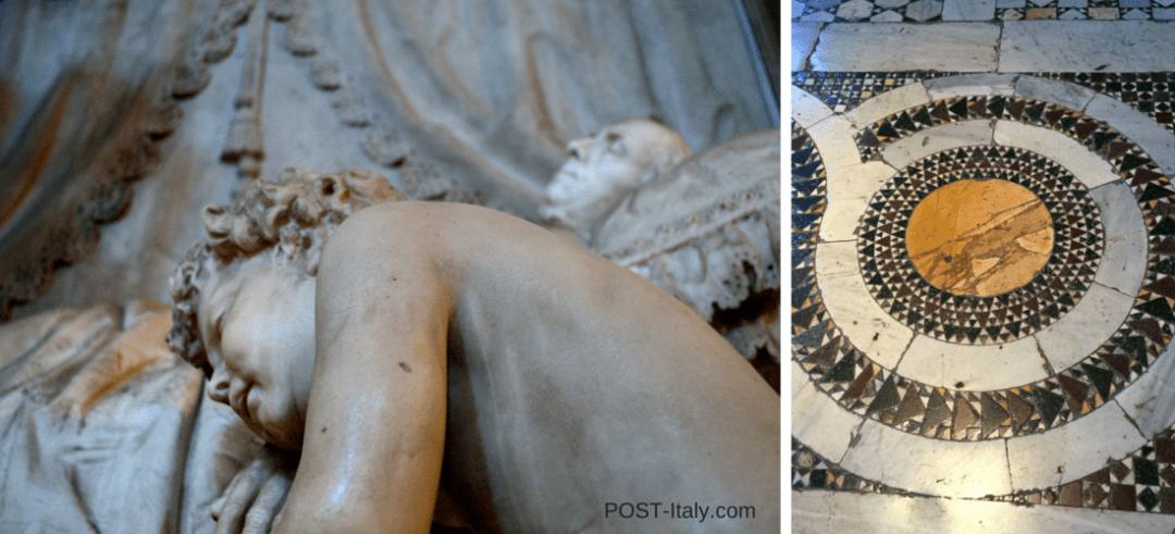 pavimentação em mosaicos em igreja de Roma
