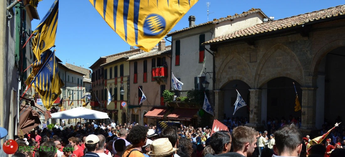 Montalcino, cidade toscana do vinho Brunello