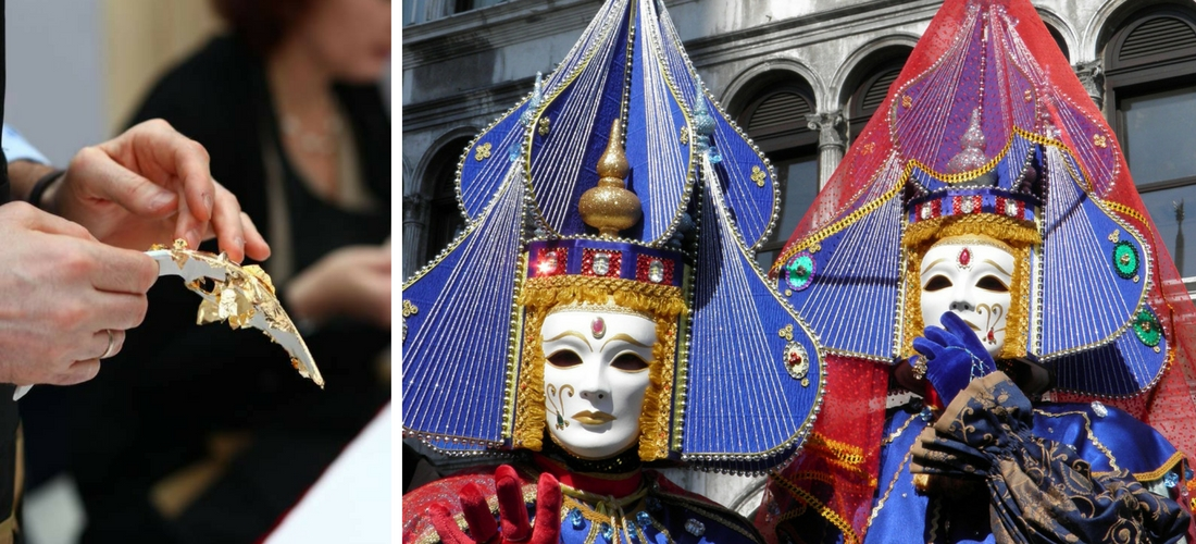 laboratório de máscaras em Veneza