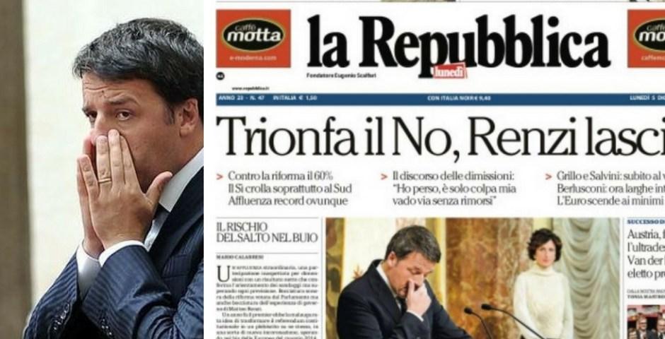 resultado referedo na Itália