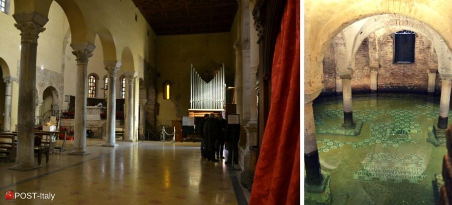 Ravenna, cripta con acqua