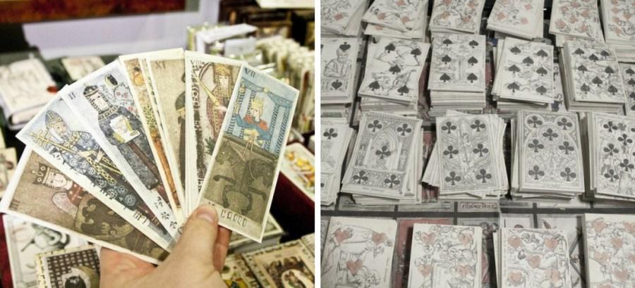 Milão, cartas de tarô artesanais