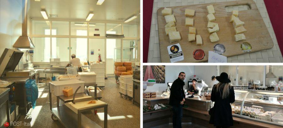 visita a uma fábrica de Parmigiano Reggiano na Itália