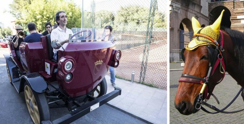 carroças em Roma