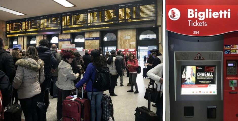 como viajar de trem pela Itália