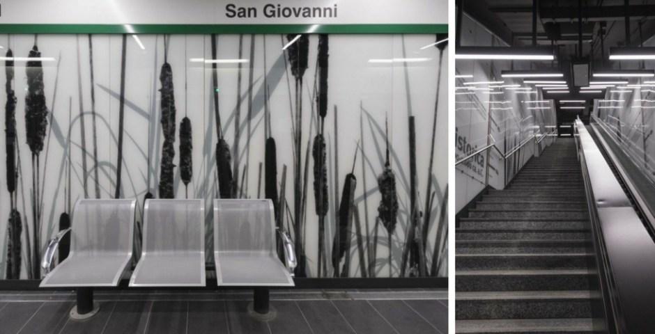 estações de metrô em Roma