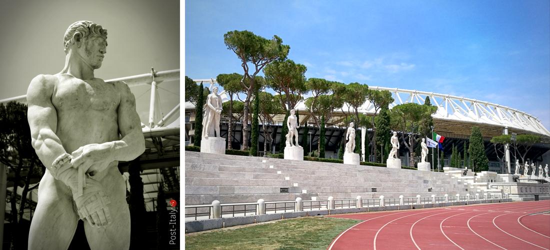 Stadio dei Marmi, tributo de mármore de Carrara à potência de Roma
