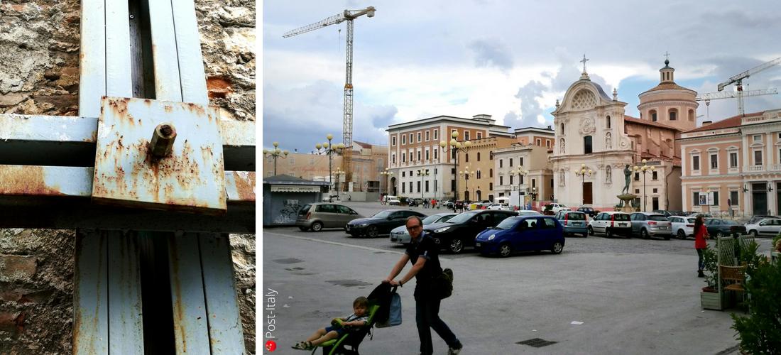 L'Aquila quase 10 anos depois do terremoto. A capital dos Abruzos entre passado e futuro.