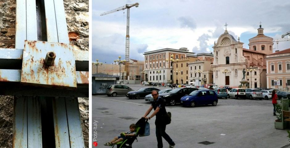 L´Aquila depois do terremoto na Itália