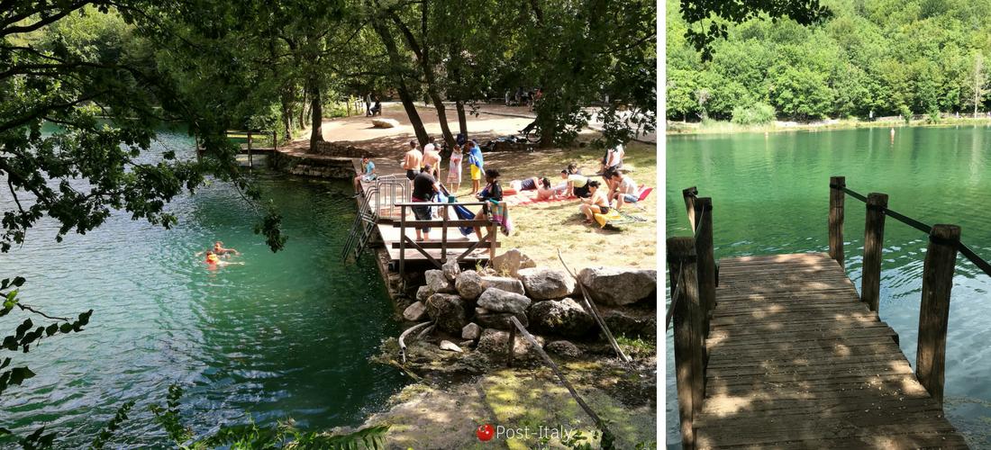 Mergulhando no verde-esmeralda do Lago Sinizzo, nos Abruzos