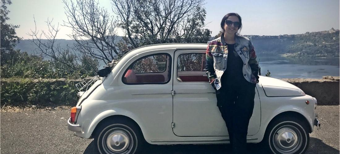 Fiat 500 tour em Roma. Reviver a Dolce Vita em um símbolo da Itália