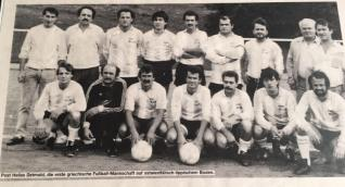 Integration Sport - Post TSV Detmold Griechen altes Mannschaftsfoto