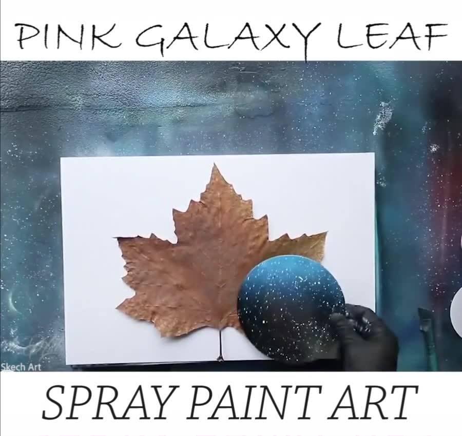 Pintura Em Uma Folha Da Natureza, O Resultado Ficou Incrível!