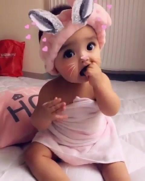 Bebê Com Filtro Que Deixa Com Orelhinhas E Carinha Linda, Que Fofura!