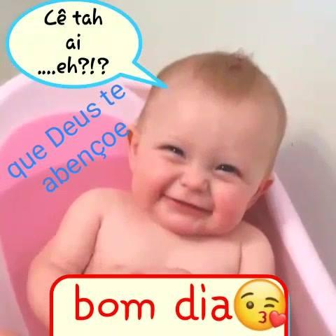 Bom Dia Com Lindo Bebê Sorrindo Que Deus Abençoe Você