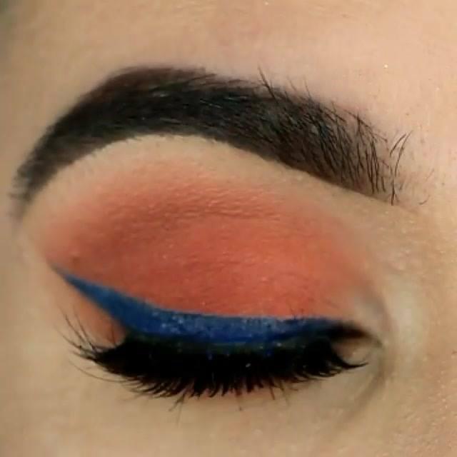 Inspiração De Sombra Marrom Com Delineado Azul, Perfeito Para Arrasar!!!