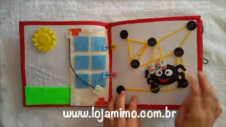 Livro Interativo De Tecido, As Crianças Vão Adorar, Confira!
