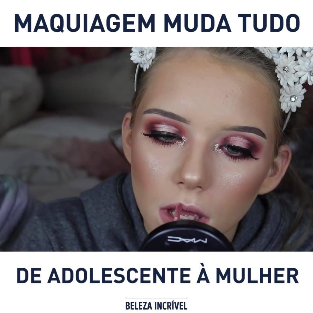 De Menina A Mulher Apenas Com Maquiagem, Um Resultado Incrível!