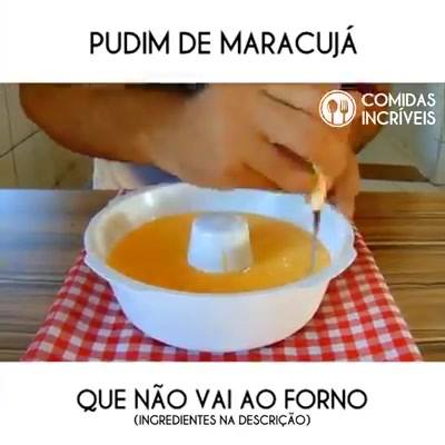 Pudim De Maracujá Fácil