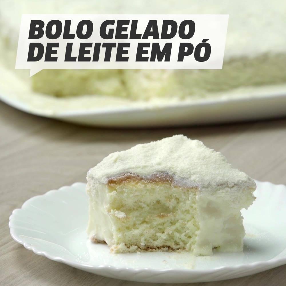 Receita De Bolo Gelado De Leite Em Pó, Uma Delicia De Receita!!!