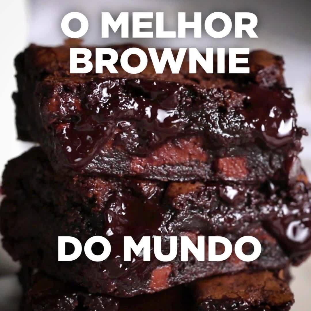 Receita De Brownie De Chocolate, Olha Só Que Maravilha Deliciosa!!!