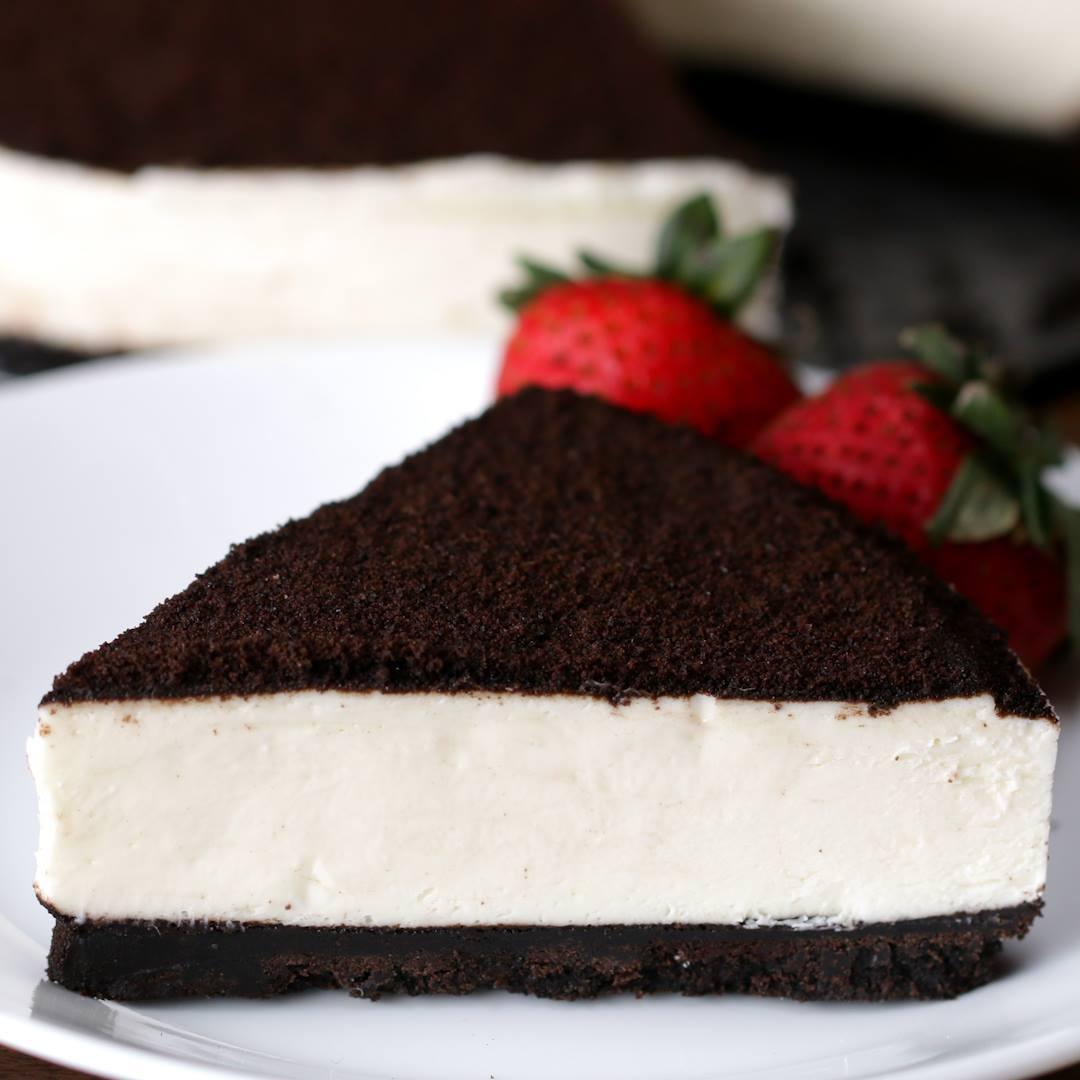 Receita De Cheesecake De Cookies E Creme, Não Precisa Ir Ao Forno!