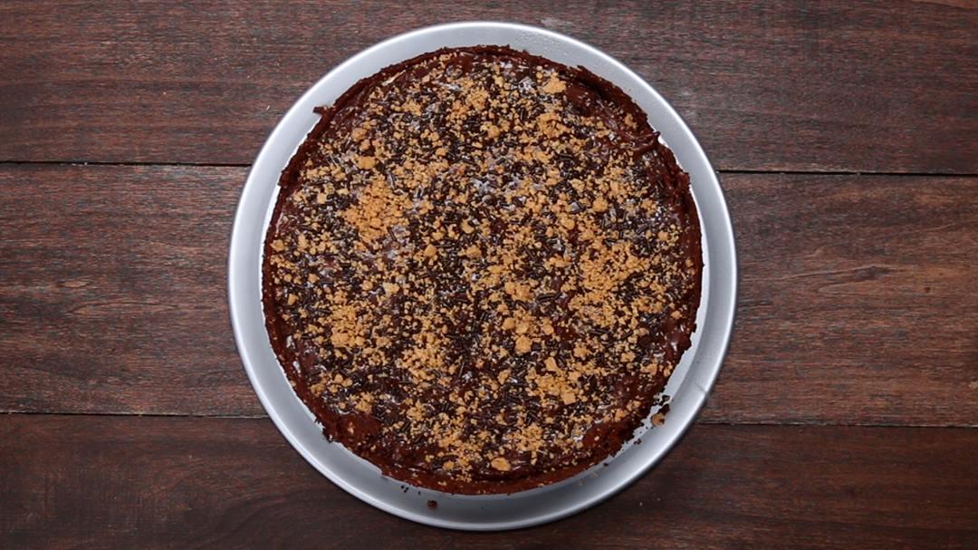 Receita De Cheesecake De Paçoca Com Brigadeiro, Maravilhoso!
