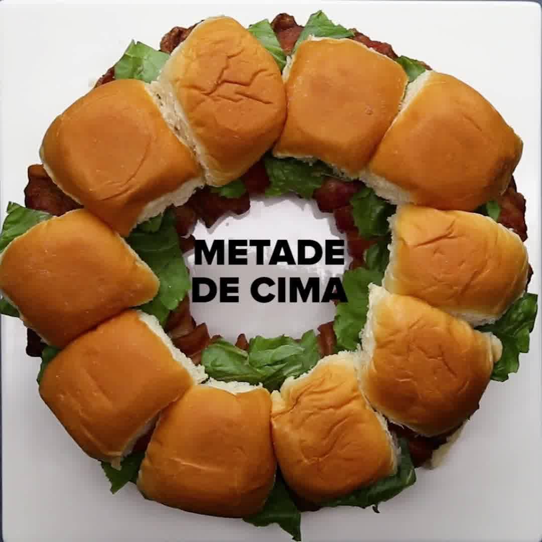Receita De Sanduichinhos De Hambúrguer Com Bacon, Que Delicia!