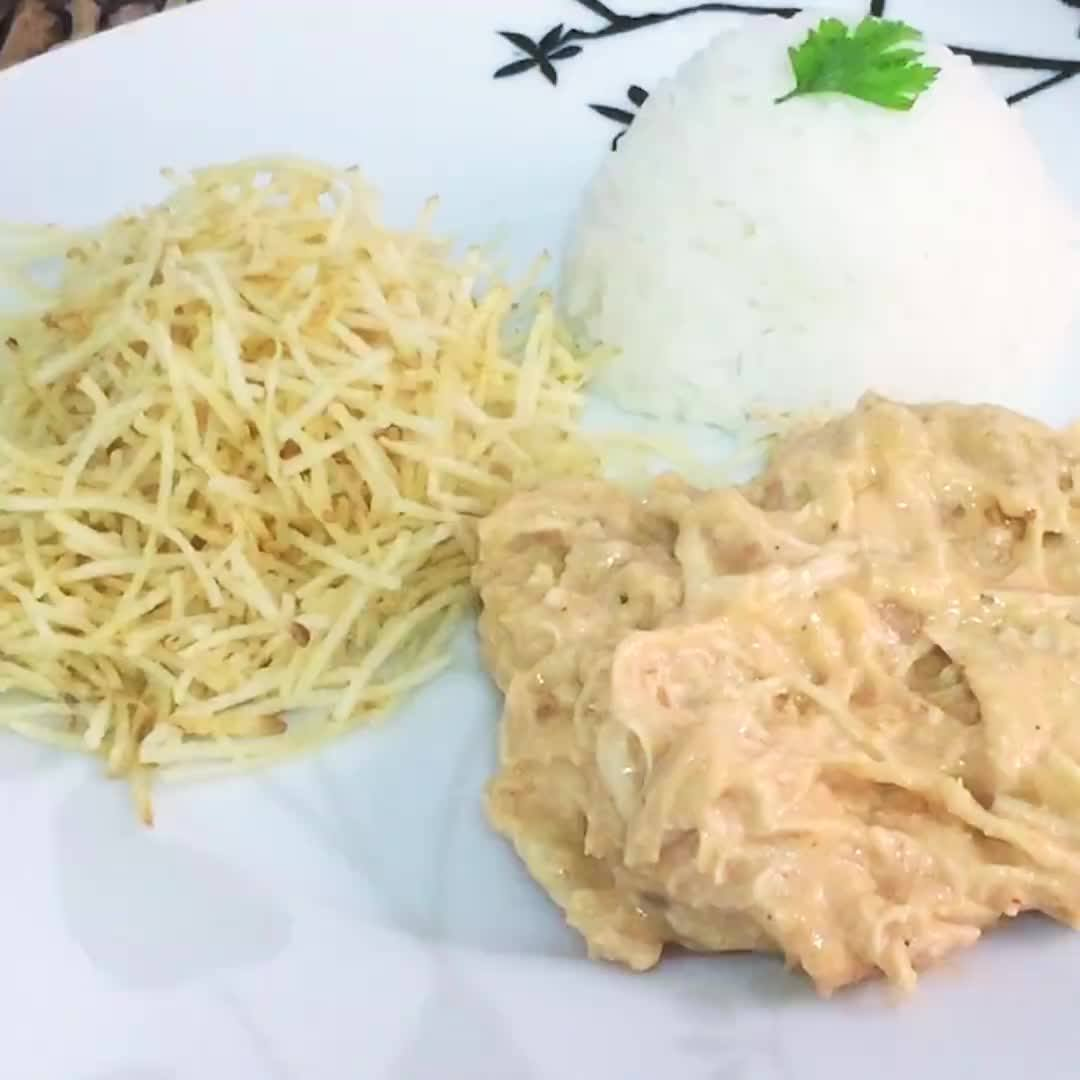 Receita De Strogonoff De Frango Light Rápido, Uma Delicia Para O Almoço!!!